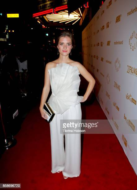 Liv Lisa Fries attends the oremiere Of Beta Film's 'Babylon Berlin' at The Theatre at Ace Hotel on October 6 2017 in Los Angeles California