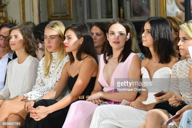 Liv Lisa Fries Ida Immendorff Oda Jaune Emilia Schule Lena MeyerLandrut and Caroline Daur attend the Kaviar Gauche Bridale Couture Collection 2018...