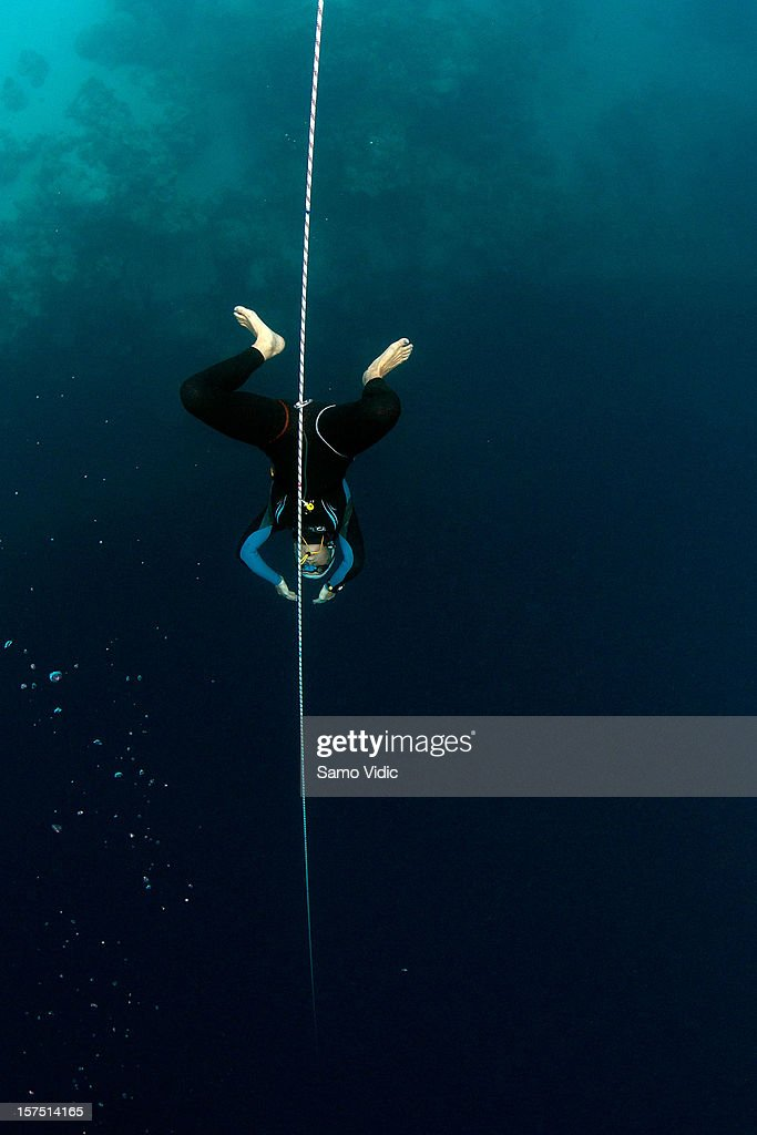 Liv Phillip of Great Britain in action during the Suunto free diving world cup on November 22, 2012 in Long Island, Bahamas.