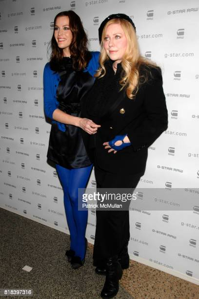 Liv Tyler and Bebe Buell attend GSTAR RAW Presents NY RAW Fall/Winter 2010 Collection Arrivals at Hammerstein Ballroom on February 16 2010 in New...