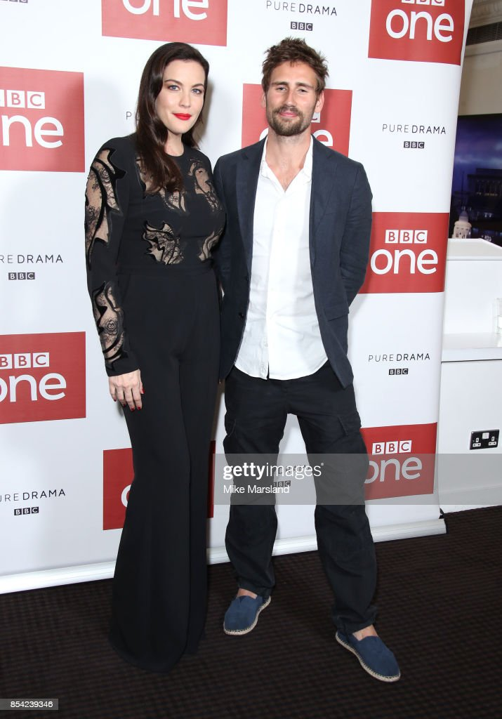 Liv Tyler and Edward Holcroft attend the 'Gunpowder' preview screening at BAFTA on September 26, 2017 in London, England.