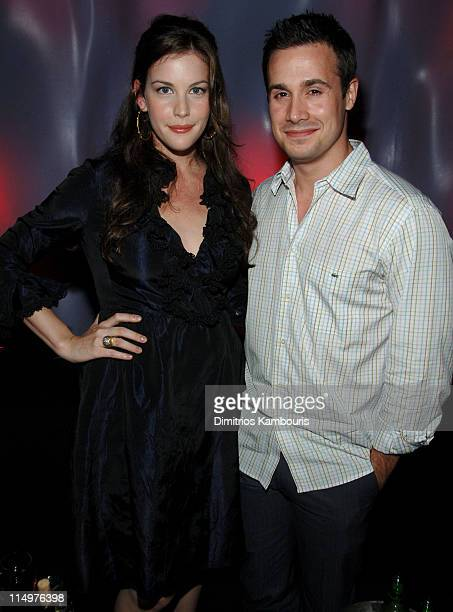 Liv Tyler and Freddie Prinze Jr during Vonage VPhone Internet Phone Launch Party in New York City at Aer Lounge in New York City New York United...