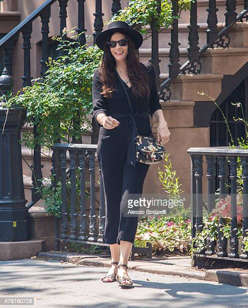 Liv Tyler and her family are seen in West Village on July 1 2015 in New York City