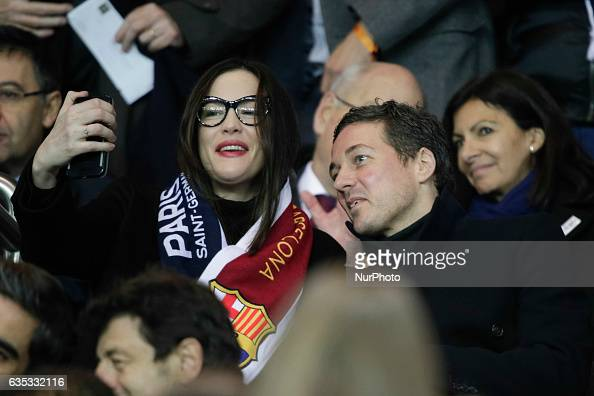 Liv Tyler and husband Royston Langdon of ArcKid attend the UEFA Champions League round of 16 first leg football match between Paris SaintGermain and...