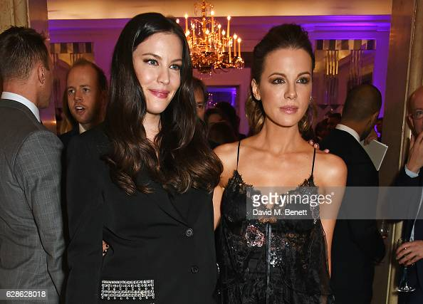 Liv Tyler and Kate Beckinsale attend The London Evening Standard British Film Awards at Claridge's Hotel on December 8 2016 in London England