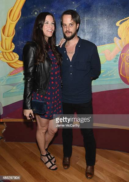 Liv Tyler and Lee Foster of Electric Lady Studios attend the 45th Anniversary of Electric Lady Studios featuring Patti Smith on August 26 2015 in New...
