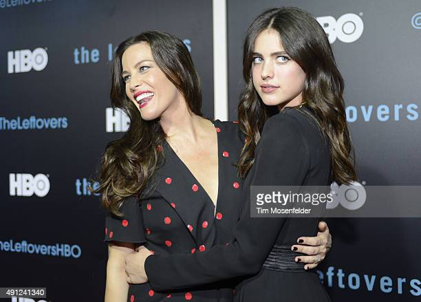 Liv Tyler and Margaret Qualley attend HBO's 'The Leftovers' Season 2 Premiere during The ATX Television Festival at the Paramount Theatre on October...
