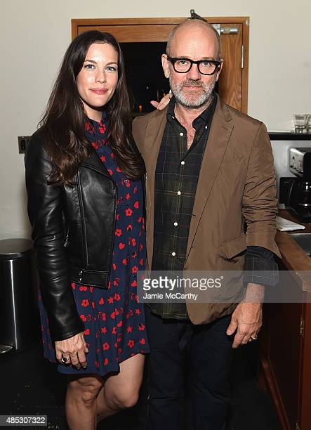 Liv Tyler and Michael Stipe attend the 45th Anniversary of Electric Lady Studios featuring Patti Smith on August 26 2015 in New York City