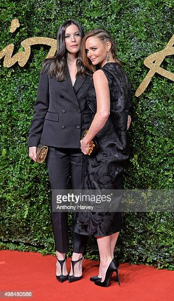 Liv Tyler and Stella McCartney attend the British Fashion Awards 2015 at London Coliseum on November 23 2015 in London England