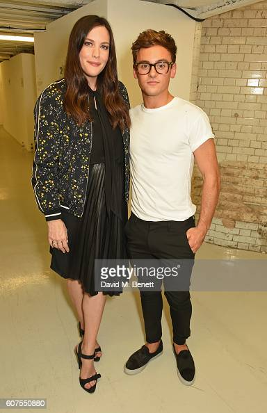 Liv Tyler and Tom Daley attend as Belstaff and Liv Tyler launch the Spring Summer 17 collection during London Fashion Week at Victoria House on...