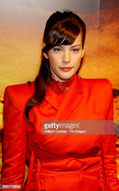 Liv Tyler at the Tobacco Dock in London for the after show party of the world premiere of Lord of the Rings The Fellowship of the Ring