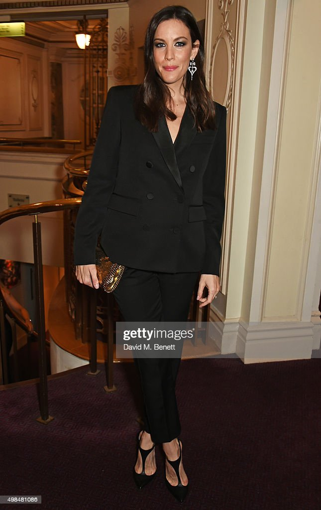 Liv Tyler attends a drinks reception at the British Fashion Awards in partnership with Swarovski at the London Coliseum on November 23, 2015 in London, England.