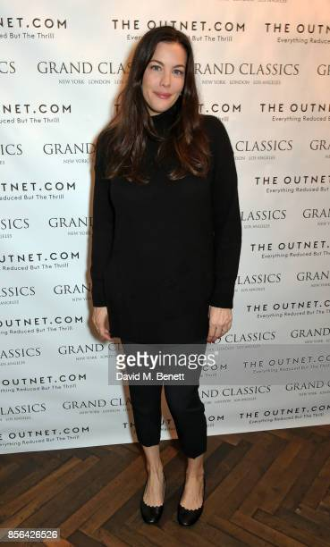 Liv Tyler attends a Grand Classics screening of Saturday Night Fever hosted by Sienna Miller in association with THE OUTNET at The Electric Cinema on...