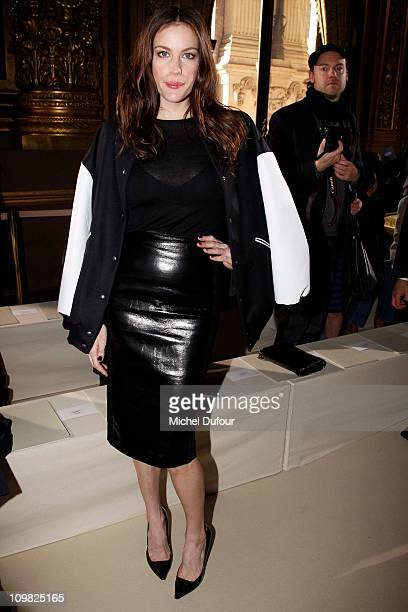 Liv Tyler attends during the Stella McCartney Ready to Wear Autumn/Winter 2011/2012 show during Paris Fashion Week Opera Garnier on March 7 2011 in...
