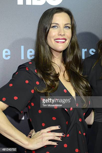 Liv Tyler attends HBO's 'The Leftovers' Season 2 Premiere during The ATX Television Festival at the Paramount Theatre on October 3 2015 in Austin...