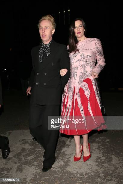 Liv Tyler attends Lost In Space anniversary party at Tate Modern to mark the 60th anniversary of Speedmaster on April 26 2017 in London England