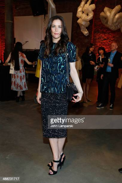 Liv Tyler attends the 2014 Pioneer Works Village Fete Fundraiser at Dustin Yellin's Pioneer Works on May 4 2014 in the Brooklyn borough of New York...