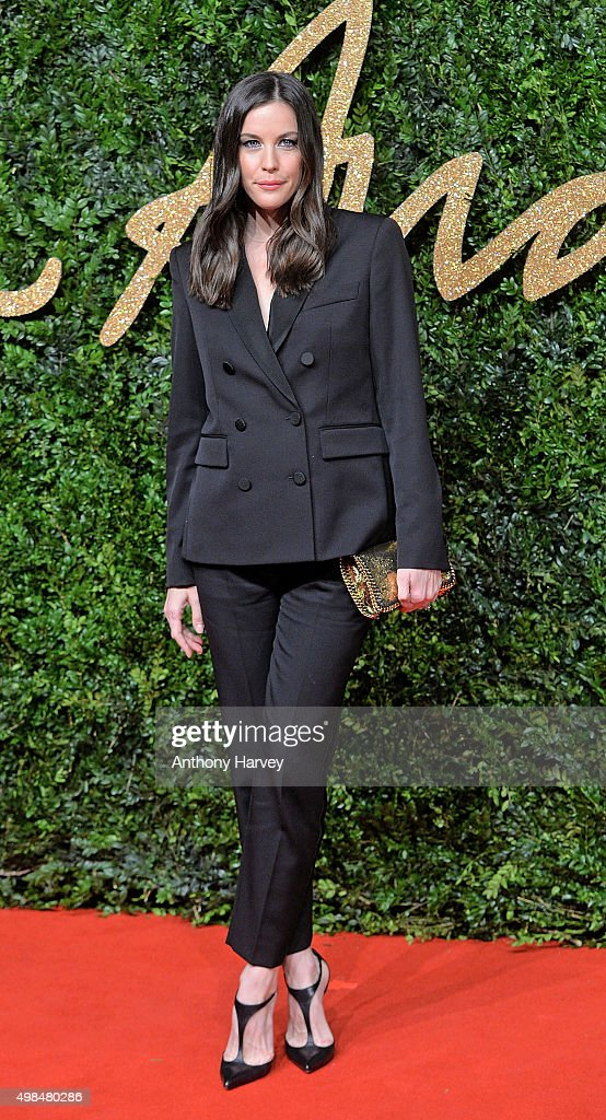 Liv Tyler attends the British Fashion Awards 2015 at London Coliseum on November 23, 2015 in London, England.