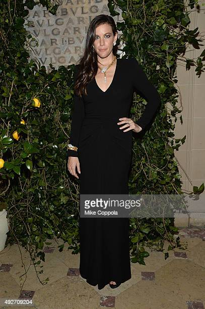Liv Tyler attends the BVLGARI ROME Eternal Inspiration Opening Night on October 14 2015 in New York City