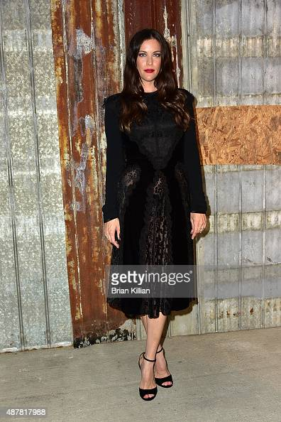 Liv Tyler attends the Givenchy show during Spring 2016 New York Fashion Week at Pier 26 on September 11 2015 in New York City