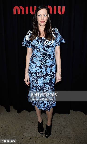 Liv Tyler attends the Miu Miu show as part of the Paris Fashion Week Womenswear Spring/Summer 2015 on October 1 2014 in Paris France