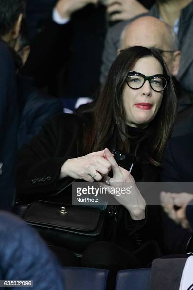Liv Tyler attends the UEFA Champions League round of 16 first leg football match between Paris SaintGermain and FC Barcelona on February 14 2017 at...