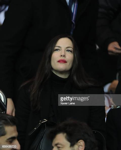 Liv Tyler attends the UEFA Champions League Round of 16 first leg match between Paris SaintGermain and FC Barcelona at Parc des Princes on February...