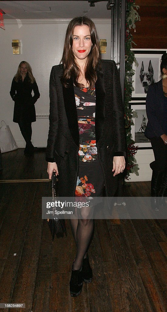 Liv Tyler attends The Weinstein Company with The Hollywood Reporter, Samsung Galaxy & The Cinema Society screening of 'Django Unchained' after party at the The Standard Hotel on December 11, 2012 in New York City.