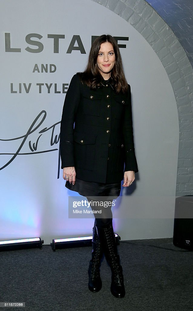 <a gi-track='captionPersonalityLinkClicked' href=/galleries/search?phrase=Liv+Tyler&family=editorial&specificpeople=202094 ng-click='$event.stopPropagation()'>Liv Tyler</a> attends/during the Belstaff Presentation during London Fashion Week Autumn/Winter 2016/17 at 1 Marylebone Road on February 21, 2016 in London, England.