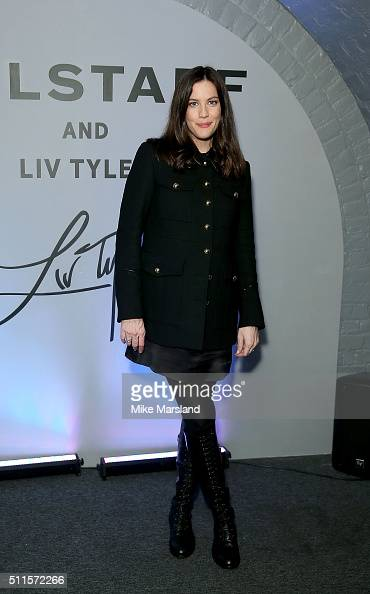 Liv Tyler attends/during the Belstaff Presentation during London Fashion Week Autumn/Winter 2016/17 at 1 Marylebone Road on February 21 2016 in...