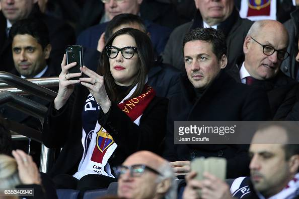 Liv Tyler Dave Gardner attend the UEFA Champions League Round of 16 first leg match between Paris SaintGermain and FC Barcelona at Parc des Princes...
