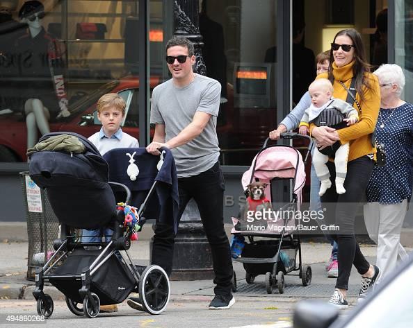 Liv Tyler David Gardner Milo William Langdon and baby Sailor Gene Gardner are seen on October 29 2015 in New York City