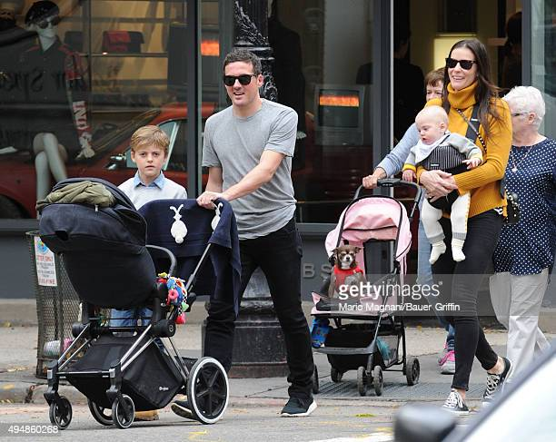 Liv Tyler David Gardner Milo William Langdon and baby Sailor Gene Gardner are seen on October 29 2015 in New York City