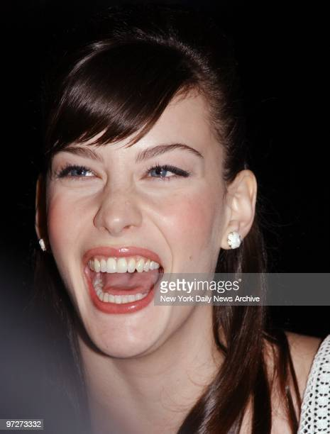 Liv Tyler has a laugh at the prescreening party for the movie 'The Lord of the Rings' at the Royal Righa Hotel She stars in the film