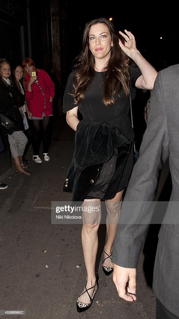 <a gi-track='captionPersonalityLinkClicked' href=/galleries/search?phrase=Liv+Tyler&family=editorial&specificpeople=202094 ng-click='$event.stopPropagation()'>Liv Tyler</a> is seen arriving at shorditch House on August 15, 2014 in London, England.