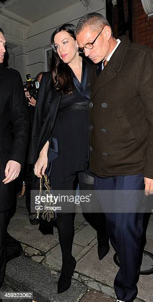 Liv Tyler leaves Mark's Club in Mayfair on November 20 2014 in London England