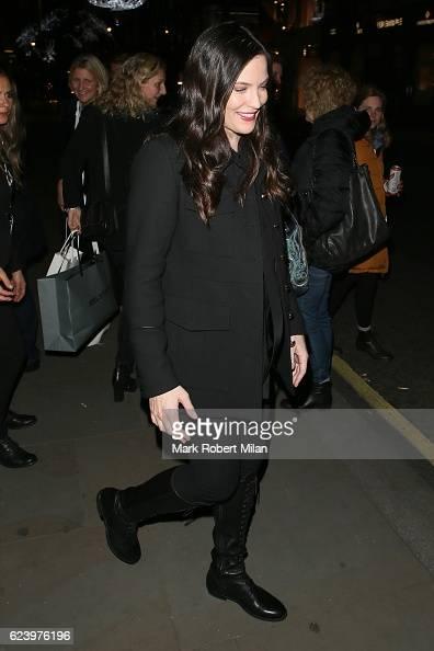 Liv Tyler leaving th Belstaff store on New Bond Street on November 17 2016 in London England