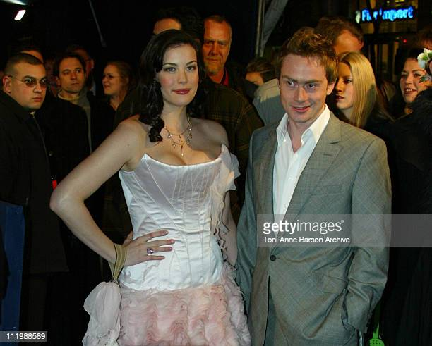 Liv Tyler Royston Langdon during 'The Lord of the Rings The Two Towers' Premiere Paris at Grand Rex Theater in Paris France