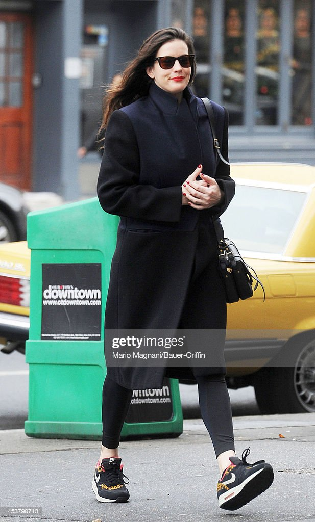 Liv Tyler sighted walking in the West Village on December 05, 2013 in New York City.