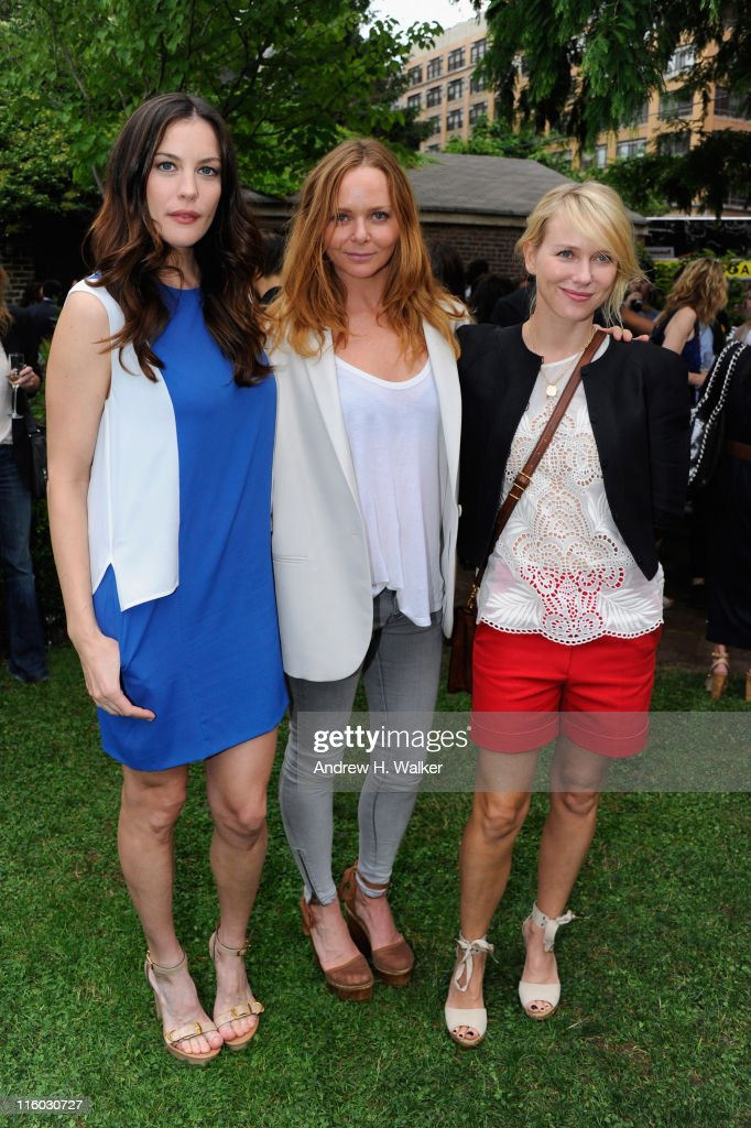 <a gi-track='captionPersonalityLinkClicked' href=/galleries/search?phrase=Liv+Tyler&family=editorial&specificpeople=202094 ng-click='$event.stopPropagation()'>Liv Tyler</a>, Stella McCartney and <a gi-track='captionPersonalityLinkClicked' href=/galleries/search?phrase=Naomi+Watts&family=editorial&specificpeople=171723 ng-click='$event.stopPropagation()'>Naomi Watts</a> and attends the Stella McCartney Spring 2012 Presentation at a Private Location on June 13, 2011 in New York City.
