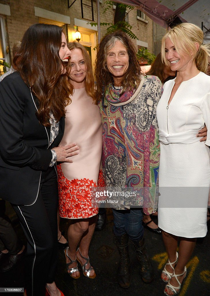 Liv Tyler, Stella McCartney, Steven Tyler and Cameron Diaz attend the Stella McCartney Spring 2014 Collection Presentation at West 10th Street on June 10, 2013 in New York City.