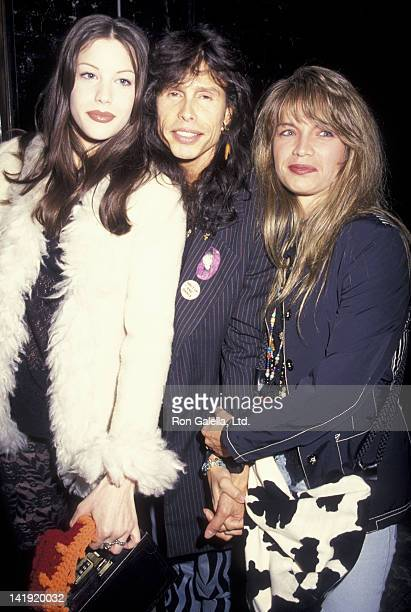 Liv Tyler Steven Tyler and wife Teresa Barrick sighted on April 28 1993 at Club USA in New York City