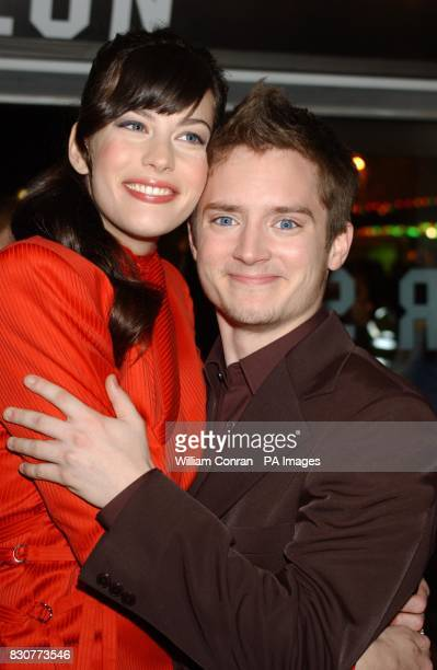 Liv Tyler who plays Arwen and Elijah Wood who plays Frodo arriving at the Odeon Leicester Square in London for the world premiere of Lord of the...