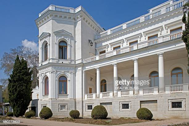 Livadia Palace designed by Nikolay Krasnov created as a summer retreat for Tsar Nicholas II and served as the location for the Yalta Conference in...