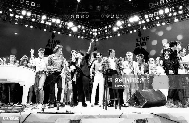 Live Aid Concert in aid of the Feed the World campaign for the starving millions in Africa Where music stars performed many songs for charity...