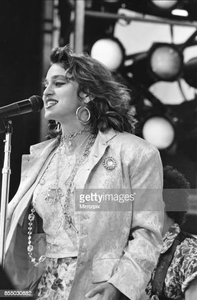 Live Aid dual venue benefit concert held on 13th July 1985 at Wembley Stadium in London England and at the John F Kennedy Stadium in Philadelphia...