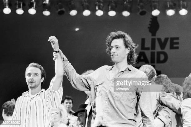 Live Aid dual venue benefit concert held on 13th July 1985 at Wembley Stadium in London England the concerts were organised as a follow up to the...