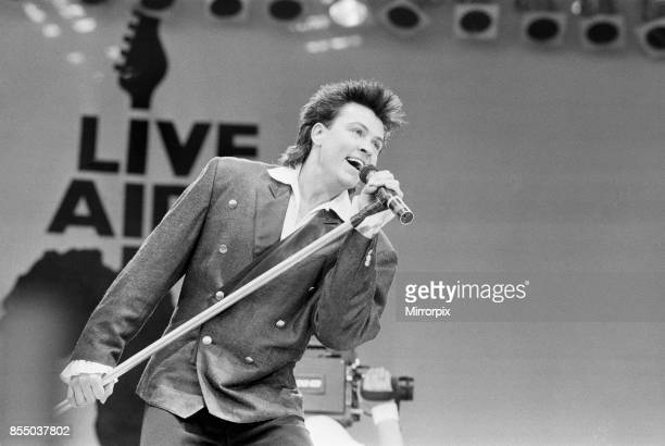 Live Aid dual venue benefit concert held on 13th July 1985 at Wembley Stadium in London England and the John F Kennedy Stadium in Philadelphia...