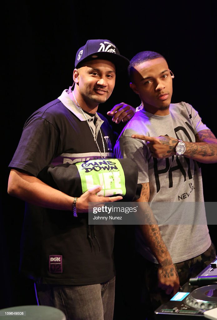 DJ Live and Bow Wow attend BET's '106 & Park' at BET Studios on January 17, 2013 in New York City.