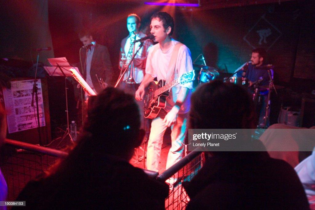 Live band at Akademia Night Club. : Stock Photo